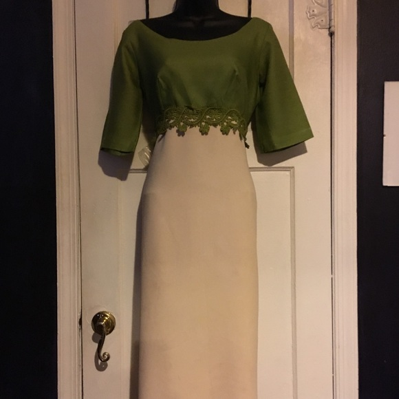 Vintage Dresses & Skirts - Vintage Dress With Green Top